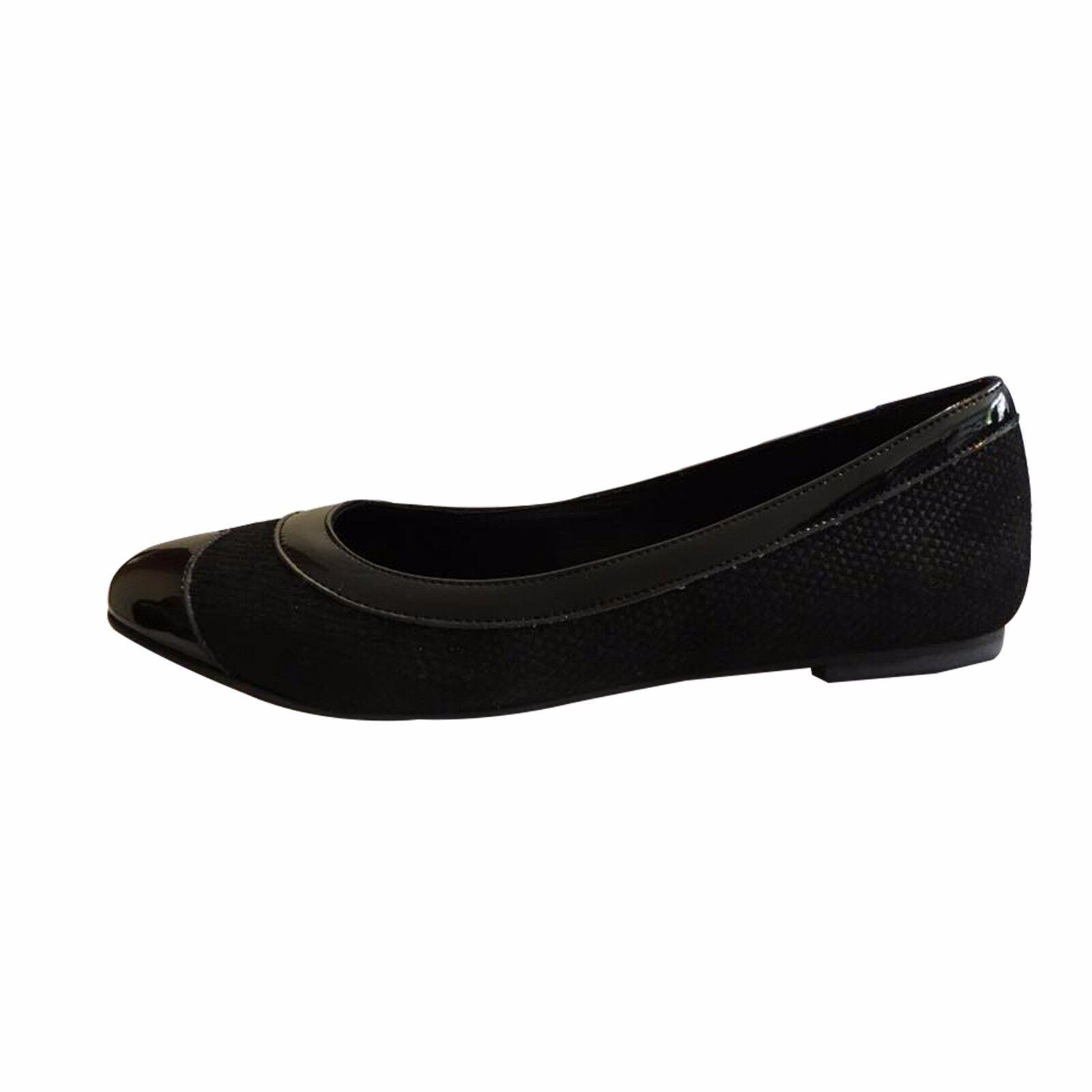 Tamaño Tamaño Tamaño 43 para mujer de charol negro y Ballet Zapatos sin Taco Sin hecho en España zapatos de gran tamaño  gran descuento