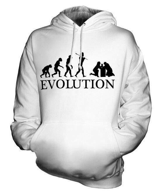ARM WRESTLING EVOLUTION OF MAN UNISEX HOODIE MENS WOMENS LADIES GIFT WRESTLE