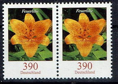 Blumen Waagrechtes Paar Brd 2006 Feuerlilie GroßZüGig 2534 **