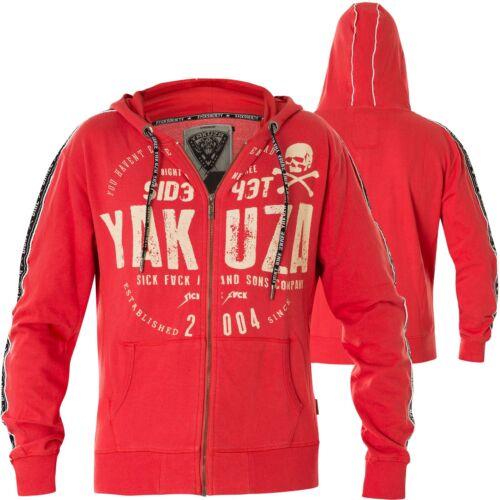 Yakuza Hoody Bad Side Zip HZB-14010 Ribbon Red