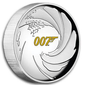 1 oz Silber - James Bond 007 - 2020 - High Relief - Polierte Platte