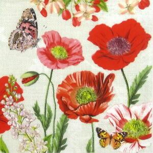 crafts Summer Meadow design scrapbooks 4 x paper napkins for decoupage