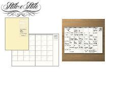 Midori Free Diary Monthly | Refill Midori 006 Traveler's Notebook Passport Size