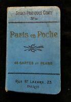 Paris en poche guides pratiques de Conty 27em édition livre ancien collection