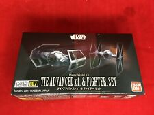 Star Wars Vehicle Model 007 Tie Advanced X1 and Fighter Set Kit 145028 Bandai