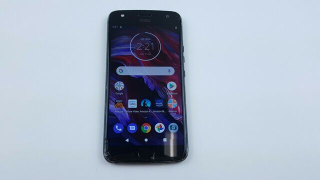 Motorola Moto X4 (XT1900-1) 32GB - Black (Unlocked) Cracked Clean IMEI J8257