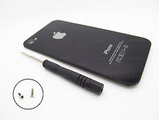 REFURB iPHONE 4S BACK GLASS BATTERY PLATE AT&T VERIZON SPRINT BLACK A1387