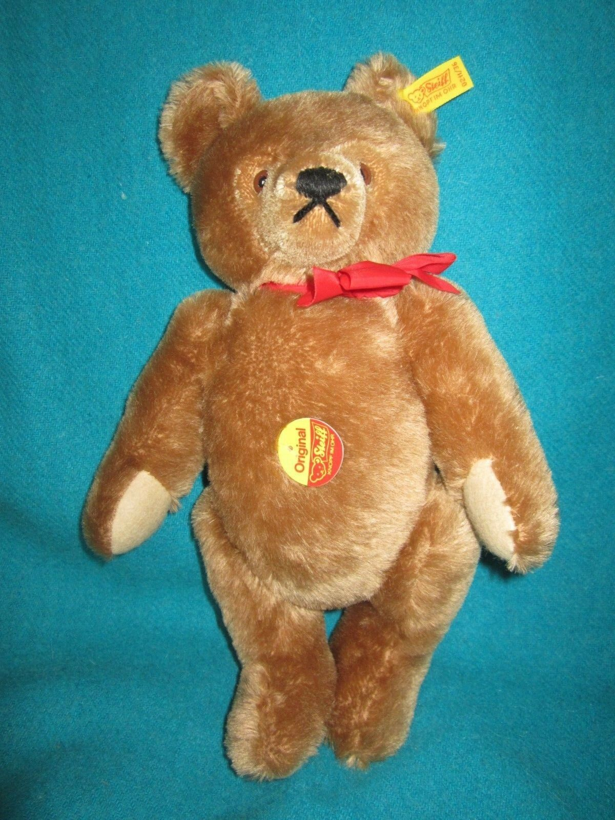 Vintage Steiff Teddy Bear 0211/36 Valentine Bear 1985 w/I.D Tags & button 14
