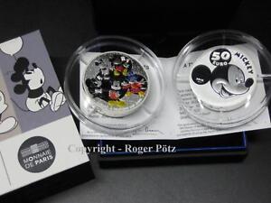 50 Euro 2016 Mickey Mouse 5 Unzen Silber coloriert PP - nicht mehr zu finden -