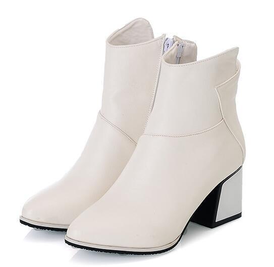 botas zapatos  de tacón mujer 6 cm blanco 9407 como piel cómodo 9407 blanco 8671ee
