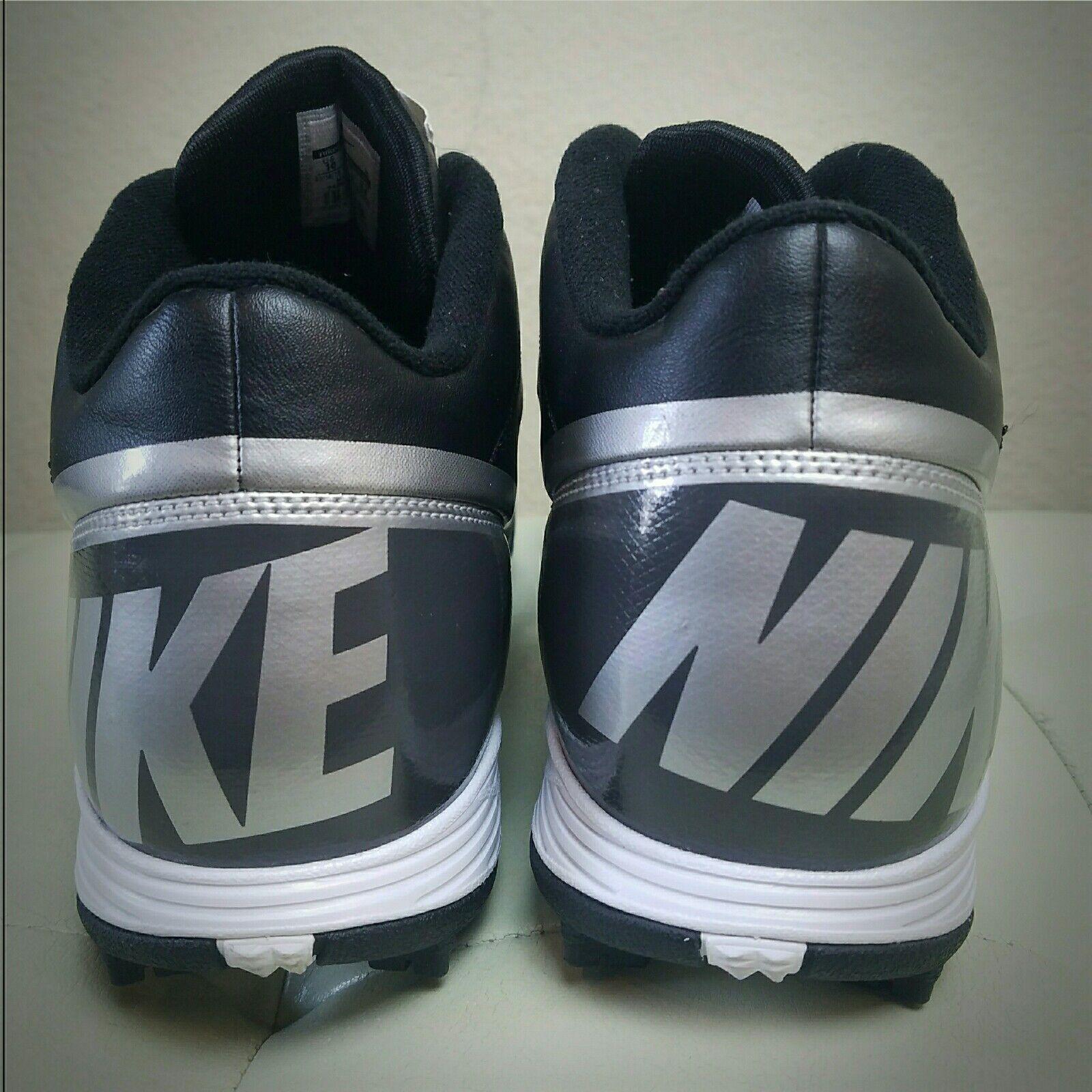 buy online 357af b8f98 ... Nike Land Shark 3 3 3   4 Negro Plata tornado Football cleats  511292-009 ...
