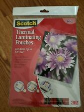 Scotch Thermal Laminating Pouches Letter Size Tp3854 20 85x 11 New Sealed