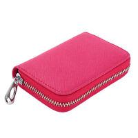 Women Fashion Mini Leather Wallet ID Credit Card Holder Organizer Purse Bag