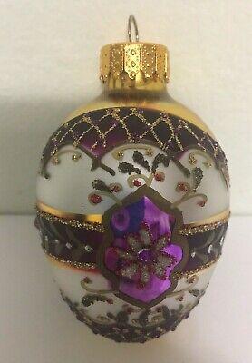 Iridescent Purple Vintage Ornament Deep Purple Antique Ornaments Purple Christmas Ornament