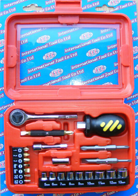 ITC PROFESSIONAL TOOLS 25 PIECE 1/4 DRIVE DIY TOOL KIT IN CASE ITC1512