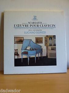 Luciano-SGRIZZI-SCARLATTI-L-039-oeuvre-pour-clavecin-65-sonates-Coffret-4-LP