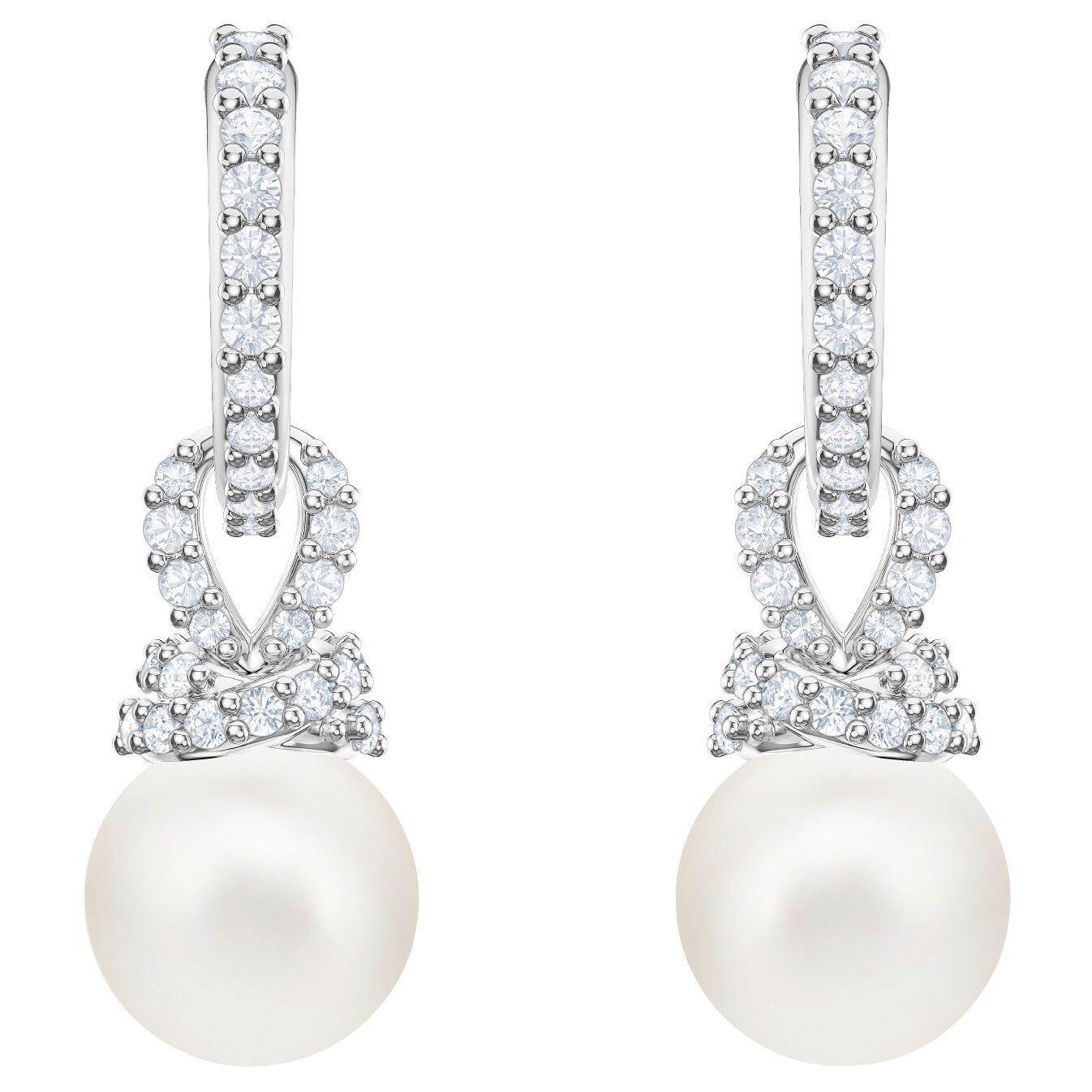 Swarovski 5461080 Originally Pierced Earrings, White, Rhodium Plating  RRP  149