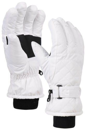Women/'s Premium Waterproof Quilted Thinsulate Insulating Snow Gloves