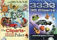 4000 Handkolorierte Cliparts + 3333 3d Cliparts Neu / Ovp Clipart Sammlung Cd