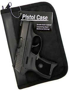 Details about PISTOL GUN CONCEALMENT STORAGE CASE w/ EXTRA MAG HOLDER for  RUGER EC9S LC9S