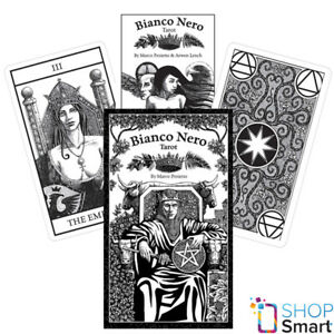 Details about BIANCO NERO TAROT CARDS DECK BLACK AND WHITE MARCO PROLETTO  GAMES SYSTEMS NEW