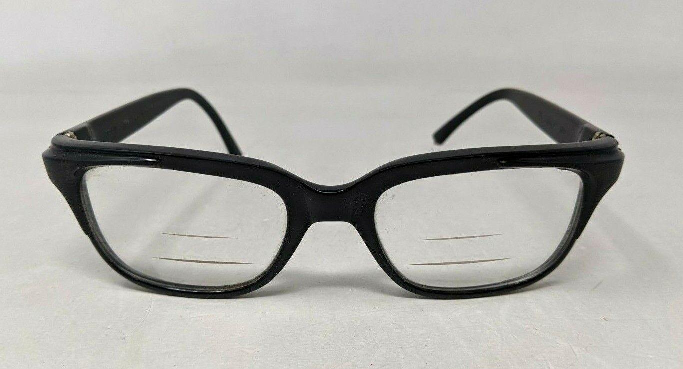 VTG 1960s Raybert He 46/22 Black Nylon Plastic Frame France Eyeglasses Glasses