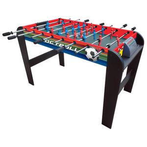 4-PIEDI-CALCIO-TAVOLO-GIOCO-CALCIO-Fusball-Gaming-tabella