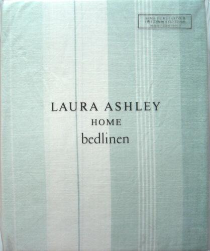 Laura Ashley-Sophie à rayures-bleu clair-Housse de couette double-RRP £ 70-NEUF