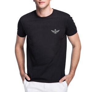Mens-The-Legend-Of-Zelda-Triumphant-Triforce-Embroidered-T-shirts-Men-Tee