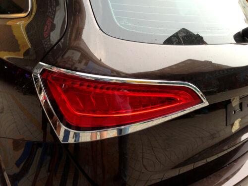 ABS Chrome Rear Tail light Decorative Cover Trim 2pcs for Audi Q5 2008-2015