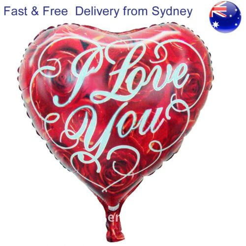 I love you roses heart balloon Proposal Anniversary Wedding Date Lover balloons