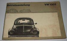 Betriebsanleitung VW Käfer 1302 / 1302 S Bedienungsanleitung Handbuch Stand 1971