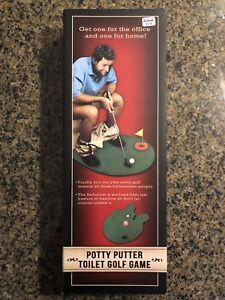 Toilet Bathroom Mini Golf Set Game Potty Putter Sports ...