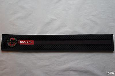 """Brand New Bacardi Rum Rubber Spill Rail Bar Mat 23 1//2/"""" X 3 1//2/"""" Heavy Duty"""