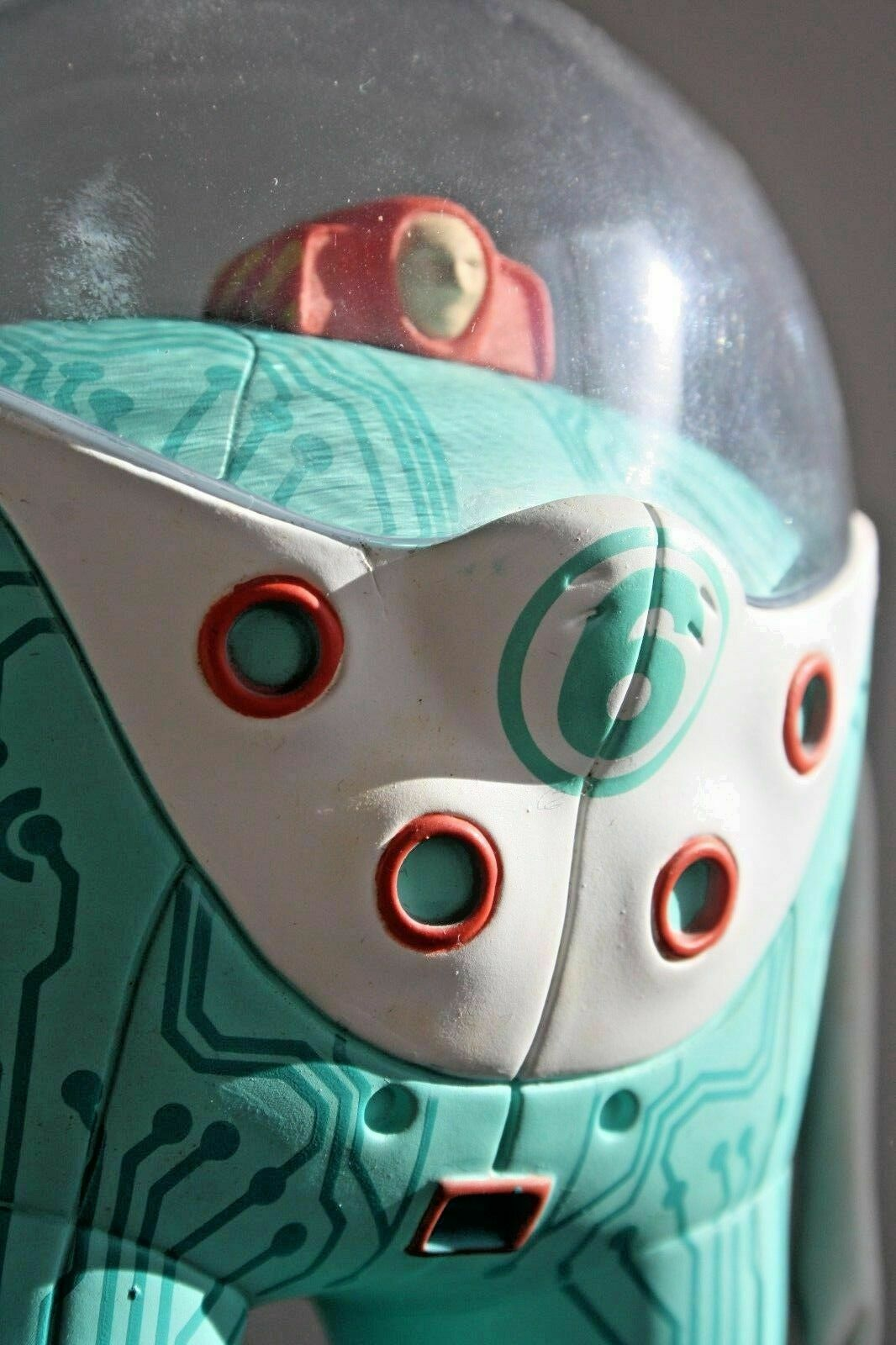 MARS-1 Berliner StrangeCo Designer Toy OBSERVER 8  SEEN Turqueiose