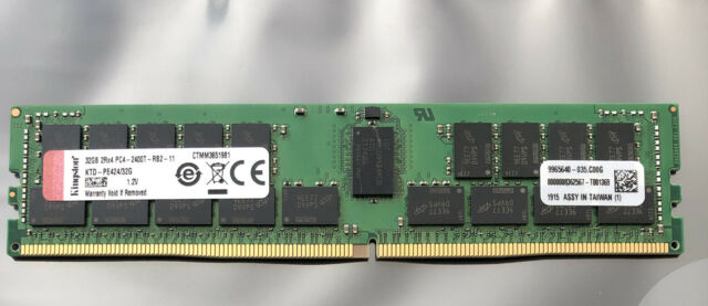 Kingston 32GB 2RX4 PC4-2400T  Registered Server Memory KTD-PE424/32G