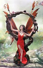 Orange Fairy with Tree Circle Figurine Legends of Avalon Metal Wings