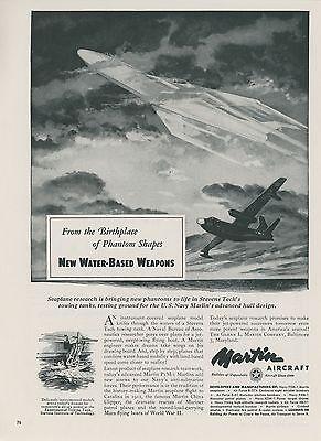 1952 Martin Aircraft Ad P5M-1 Marlin Seaplane Navy Flying Boat USN Airplane