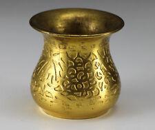 Early 20th Century Gold Plated Bronze Glue Pot Tiffany Studio Grape Vine pattern