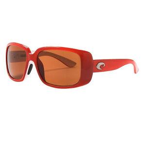 e86008a125 New w case Costa Del Mar LITTLE HARBOR Sunglasses Coral White Amber ...