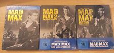 Mad Max Trilogy Blu-Ray Steelbook Region Free Road Warrior Thunderdome Sealed