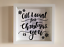 IKEA RIBBA Box Frame Personalised Vinyl Wall Art All I want for christmas is you
