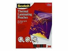 3m Scotch Thermal Laminating Pouches Letter Size 50 Pack