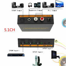 3x1 SPDIF/TOSLINK Switch Digital Optical Audio With 5.1CH Decoder L/R Stereo Out