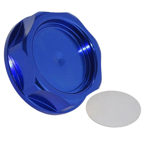 Billet Engine Oil Fuel Filler Tank Cap Cover Blue For Honda Acura Civic TL