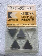 4 Kennametal Tpg 432 K4h Carbide Inserts