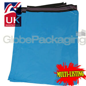STRONG-BABY-BLUE-MAILING-POSTAL-PLASTIC-POLY-BAGS-MAILERS-ALL-SIZES-QTY-039-S