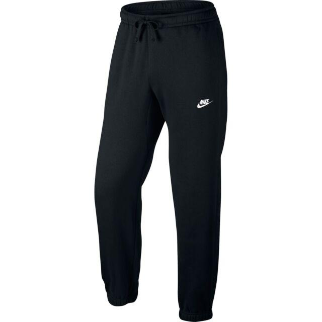 3f2113532de0 Nike Men s Sportswear Black Cuffed Fleece Club Sweatpants Back Pocket Men L