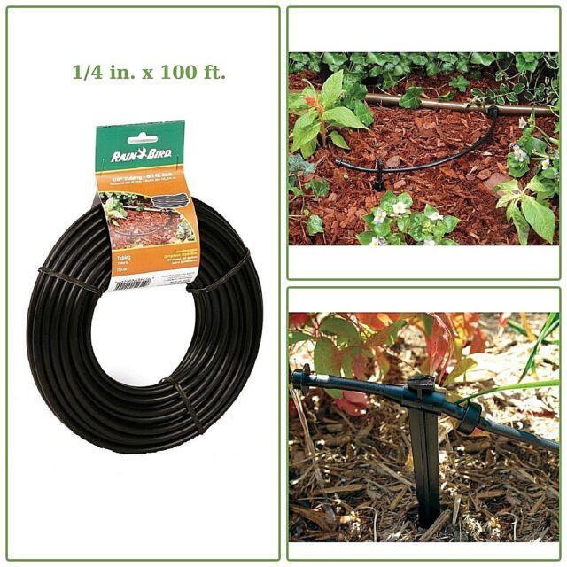 "Distribution Tubing Drip Micro Irrigation Rain Watering Blank Hose 1//4/"" x 100/'"