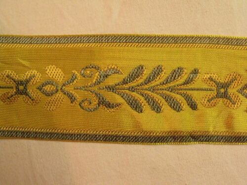Wide Lyon France Weaved Tape Yellow Green Peach Classical Style